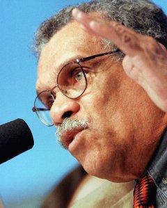 St Lucian poet and Nobel Laureate, Derek Walcott