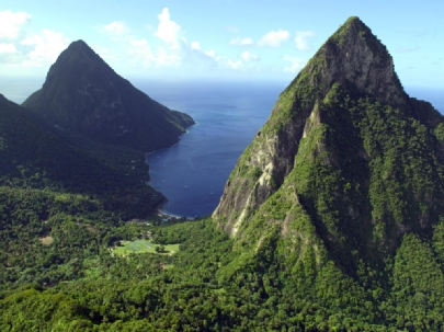 The world-famous Pitons: photo credit, The Star