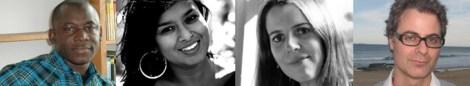 E.E. Sule (Nigeria), Nayomi Munaweera (Sri Lanka), Lisa O'Donnell (UK) and Michael Sala (Australia), four of the 2013 Commonwealth Book Prize regional winners (Image credit; Commonwealth Writers.org)