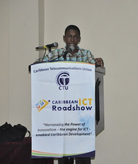 Warren speaking at the Caribbean Telecommunications Union ICT Roadshow 2011 in St. Vincent